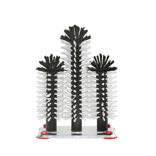 Brush head set 3 aluminium base 18cm 25cm