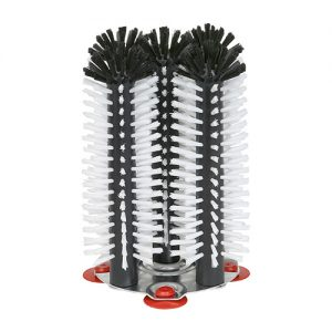 Brush Head set 5 aluminium round base 25 cm